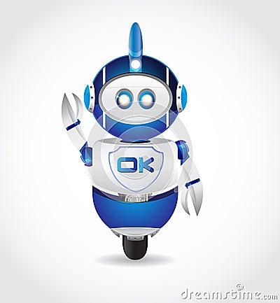 Ok Sign in Robot Shape