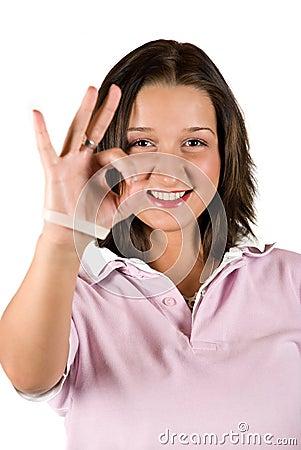 Ok sign teenage