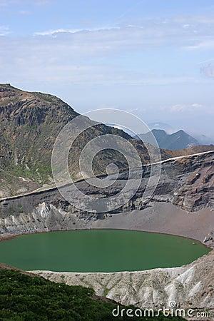 Okama (crater lake) at Zao, Japan