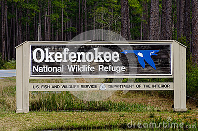Okefenokee Swamp National Wildlife Refuge Sign