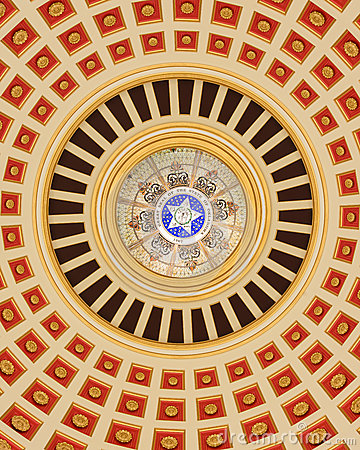 Oklahoma Capitol Dome Interior Royalty Free Stock Images - Image: 28439559
