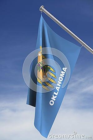 Oklahoma flag against sky