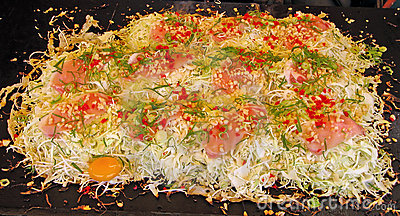 Okonomiaky-traditional Japanese food