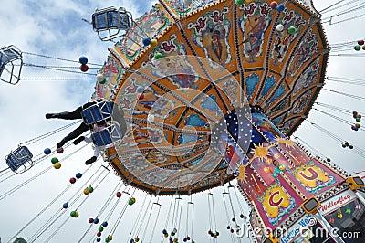 Oktoberfest 2010 carrousel Editorial Image