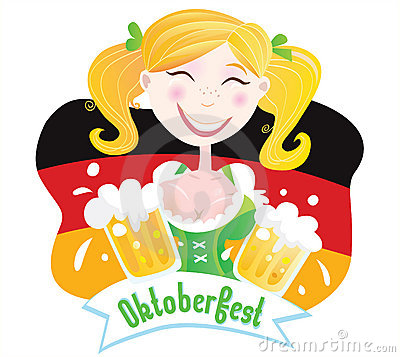Oktoberfest (Bavarian female) Editorial Stock Photo