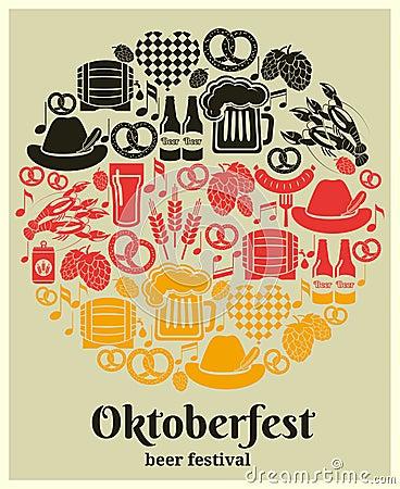 Free Oktoberfest Beer Festival Label Stock Photography - 44830412