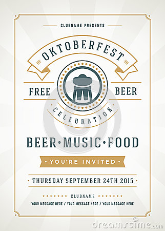Oktoberfest Beer Festival Poster Or Flyer Template Editorial Stock ...