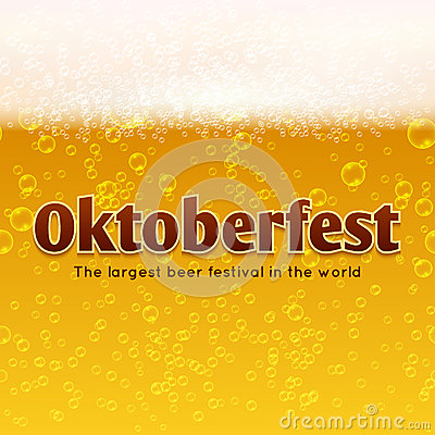 Free Oktoberfest Beer Festival Vector Poster, Bubbles And Foam Background Royalty Free Stock Photos - 78996738