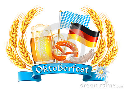 Oktoberfest celebration card Editorial Stock Image