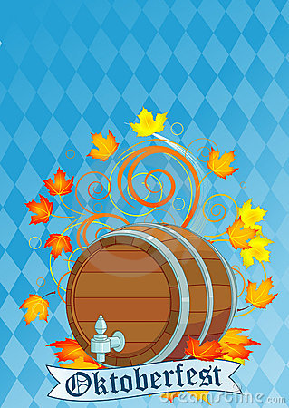 Oktoberfest design with keg Editorial Image