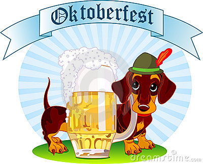 Oktoberfest dog Editorial Image