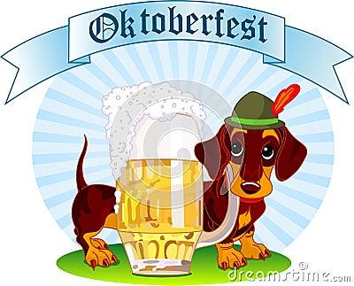 Oktoberfest dog Editorial Image