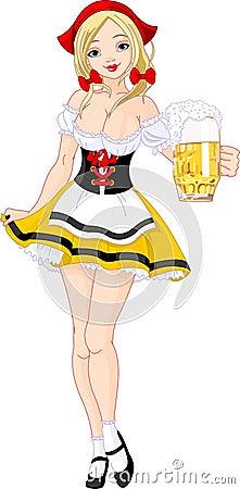 Oktoberfest German girl