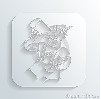 Oktoberfest man icon vector