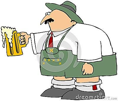 Oktoberfest Man With A Mug Of Beer
