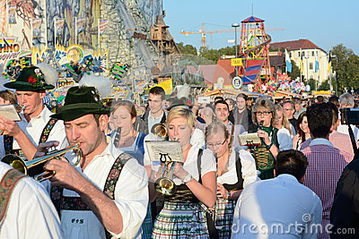 Oktoberfest Marching Band Editorial Image