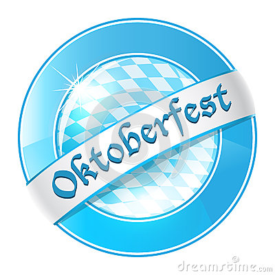 Oktoberfest round banner with ribbon Editorial Stock Photo