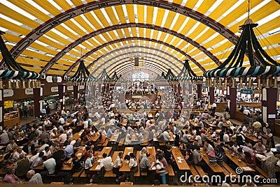 Oktoberfest Tent Editorial Photo