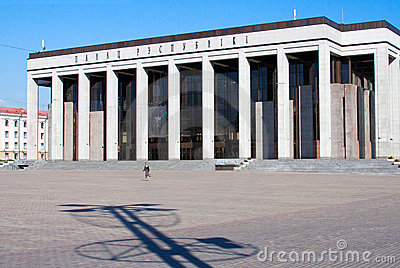 Oktyabrskaya square in Minsk