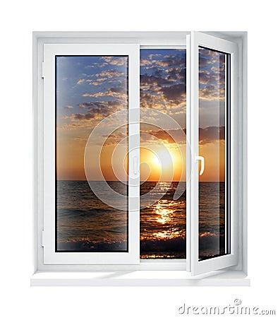 Okulary ramowego pojedynczy nowego otwarty plastikowy okno