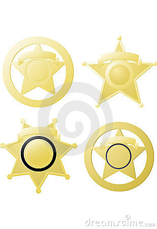 The Ol' Tin Star Royalty Free Stock Image - Image: 9944076