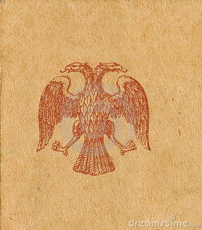 Old 1900 s double-headed eagle stamp