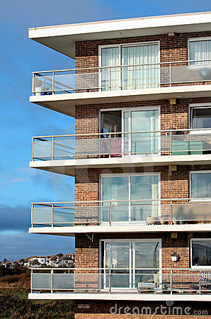 Old 1960 s Style Apartment Block of Flats