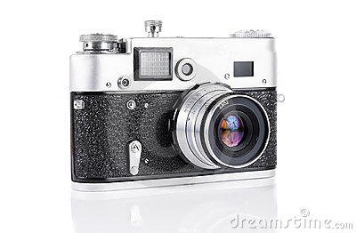 Old 35 mm rangefinder camera