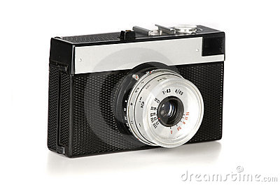 Old 35mm film photo camera