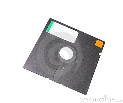Old 5.25 floppy disk with blank label