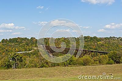 Old abandon railroad  bridge in Kentucky, USA