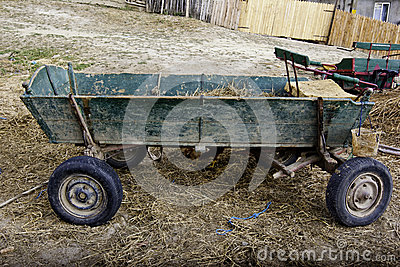 Old abandoned cart