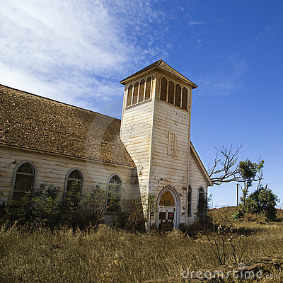 Free Old Abandoned Church Royalty Free Stock Photography - 3187817