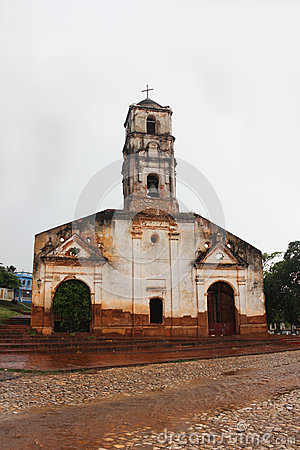 Free Old Abandoned Curch Of Saint Anna. Rainy And Cloudy Weather Stock Photo - 82751130