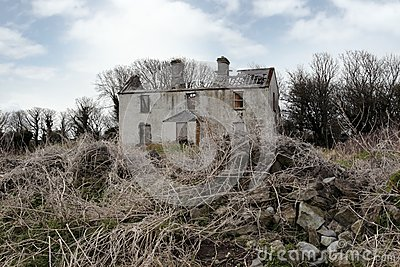 Old abandoned deserted farmhouse