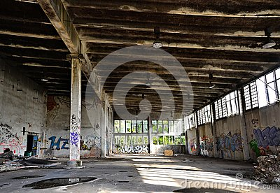 Old abandoned factory building