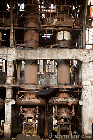 Old abandoned factory - furnance