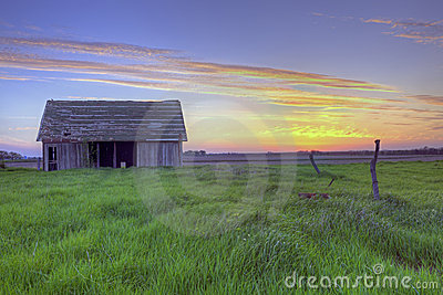 Old Abandoned Farm Barn At Sunset #2