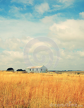 Free Old Abandoned Farm In Field Stock Images - 41421684