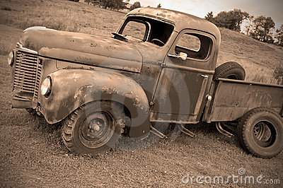 Old abandoned farm truck