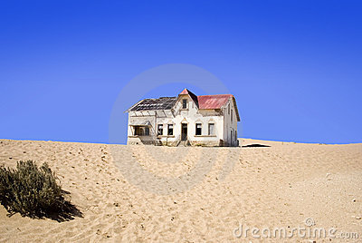 Old abandoned house at kolmanskop Namibia