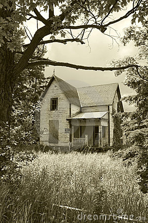Old, Abandoned House in Sepia