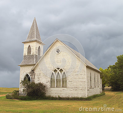 Free Old Abandoned Prairie Church Royalty Free Stock Photography - 26213577