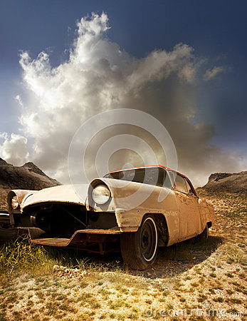 Free Old Abandoned Rusty Car Royalty Free Stock Image - 62755166