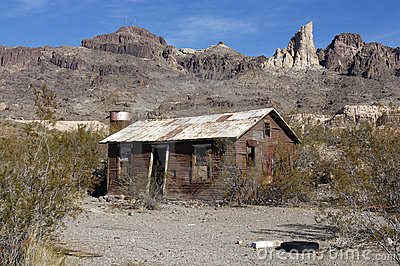 Old Abandoned Shack in desert