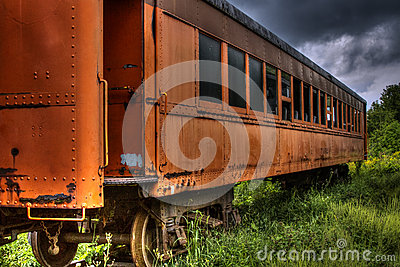 Old abandoned train car