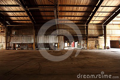 Old and abandoned warehouse