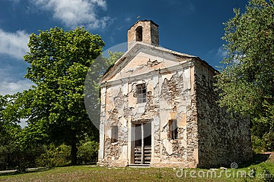 Old abandonment chapel