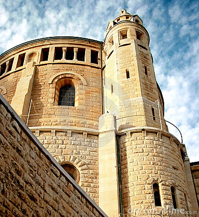 An old abbey in Jerusalem agains