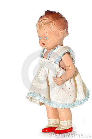 Old abused child doll #4